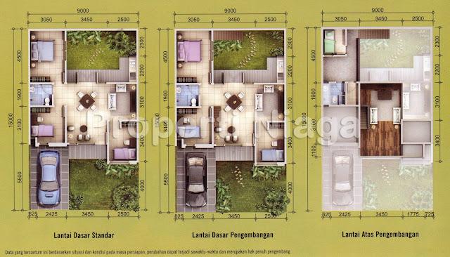Denah-Cluster-Green-Valley-Tipe-Acerola-Sentul-City_1