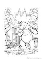 Desenhos da Masha e o Urso para colorir