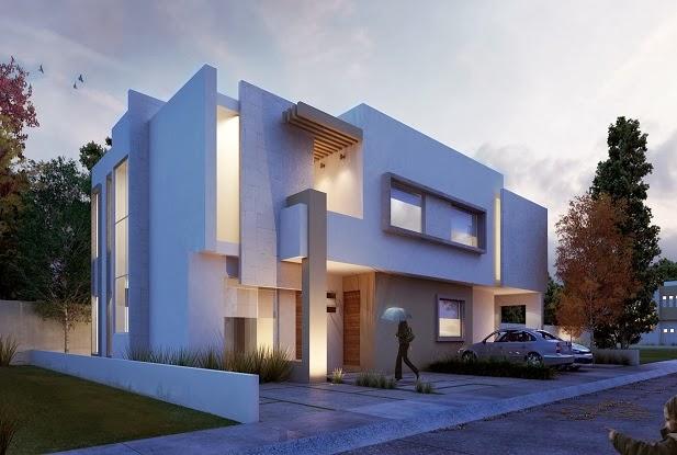 fachadas de casas modernas enero 2014