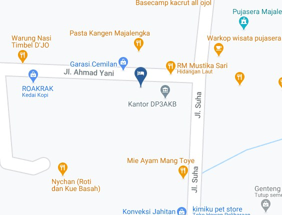 Map Letak Hotel Noni Syariah Majalengka