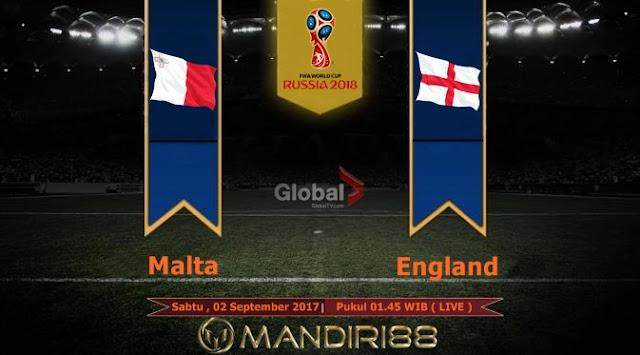 Prediksi Bola : Malta Vs England , Sabtu 02 September 2017 Pukul 01.45 WIB @ Global TV