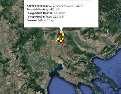 Νέος σεισμός στην γειτονιά μας... 4,8 ΡΙΧΤΕΡ στο Κιλκίς σήμερα τα ξημερώματα