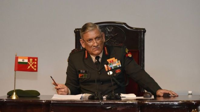 India's Threat: Indian Army Chief Bipin Rawat Threatens to Pakistan