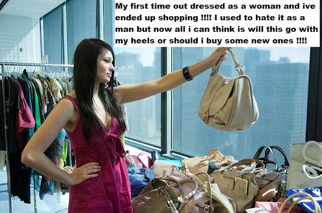 Shopping as a Woman Sissy TG Caption - Coerced Into Skirts and TG Captions- Crossdressing and Sissy Tales and Captioned images