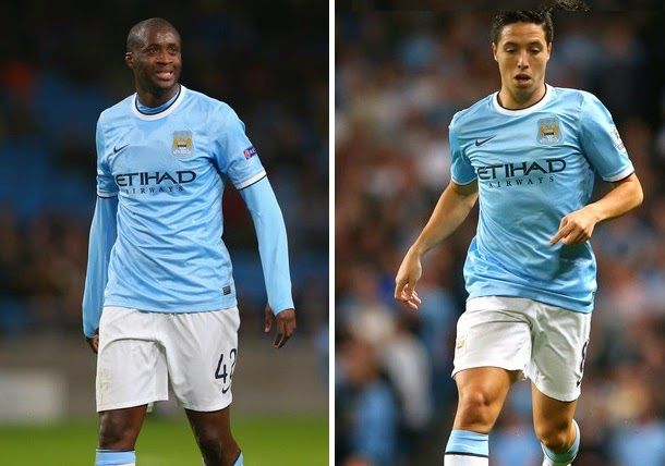 Inter Milan want Manchester City Yaya Toure and Samir Nasri