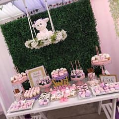 Green wood backdrop party decoration