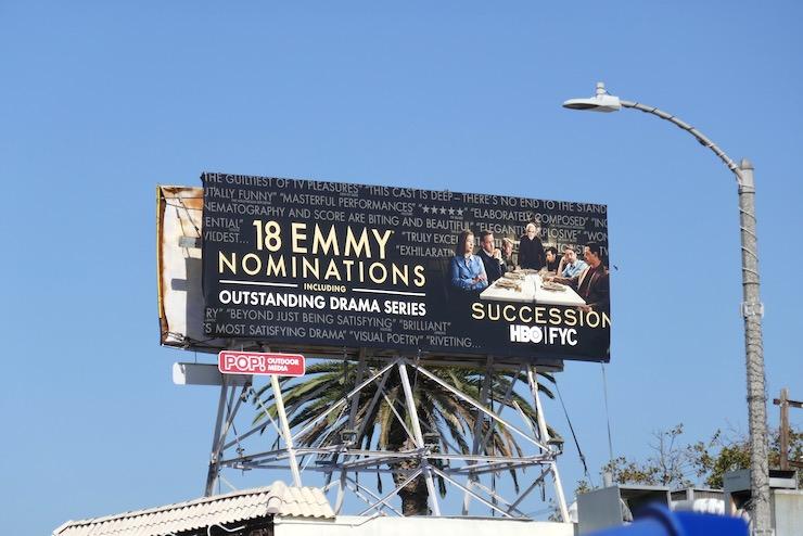 Succession season 2 Emmy nominee billboard