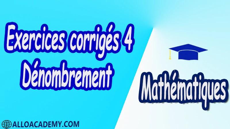 Exercices corrigés 4 Dénombrement pdf Mathématiques Maths Dénombrement Dénombrer des listes Permutation Arrangement p-liste Combinaison Nombre de combinaisons Résumé des situations Critères à retenir Combinaisons Formules Formules relatives aux combinaisons Triangle de Pascal Le binôme de Newton Cours résumés exercices corrigés devoirs corrigés Examens corrigés Contrôle corrigé travaux dirigés td