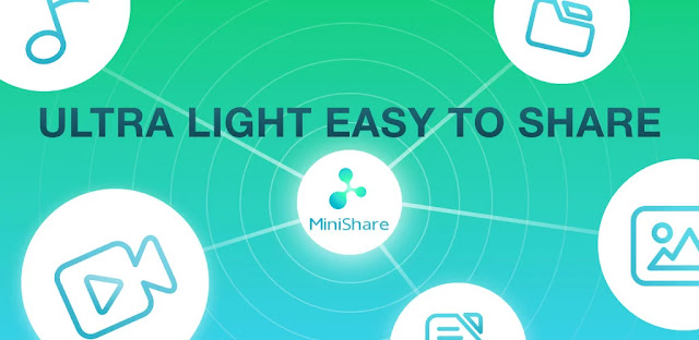 تنزيل تطبيق MiniShare - Mini Size File Transfer App  برنامج صغير لمشاركة الملفات بسرعة على أجهزة الاندرويد