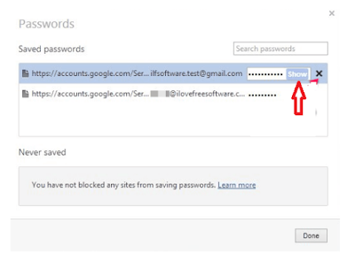Find Saved Passwords on opera browser