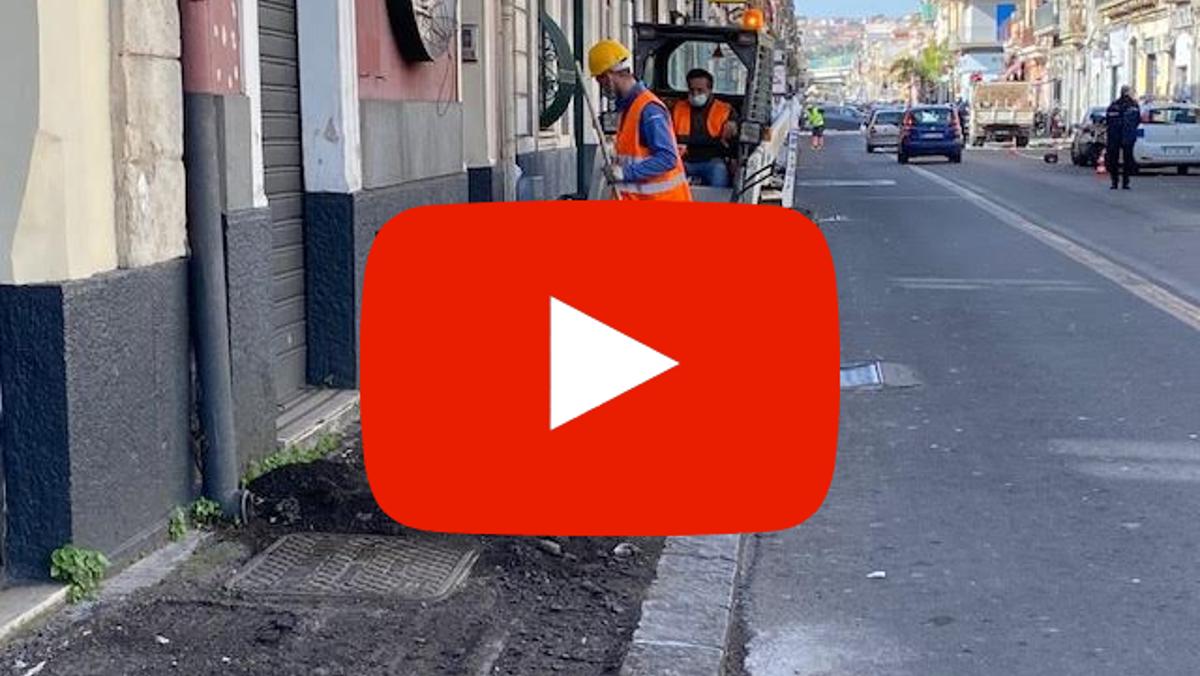 inzio lavori in via Palermo