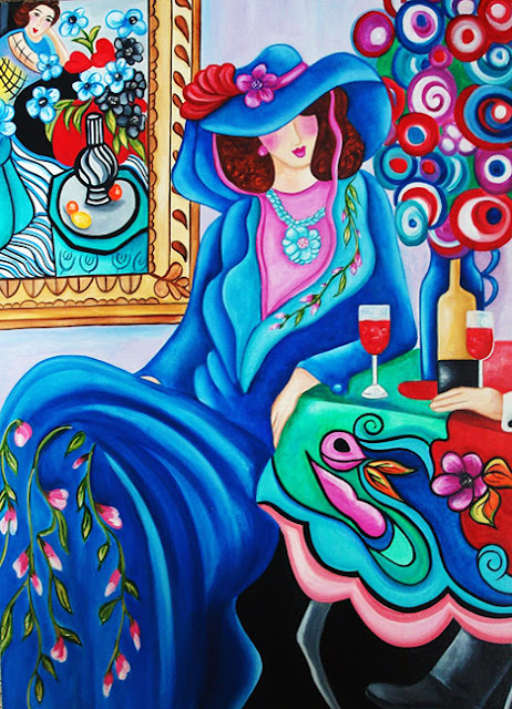 Interior Oil Painting Inspired By Matisse Secret Lover By