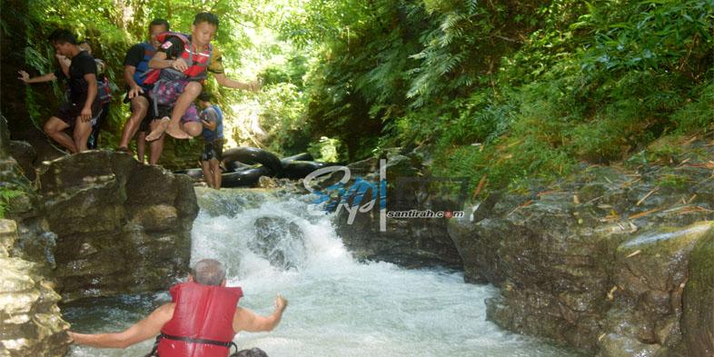 Curug Bitung Santirah River Tubing Pangandaran