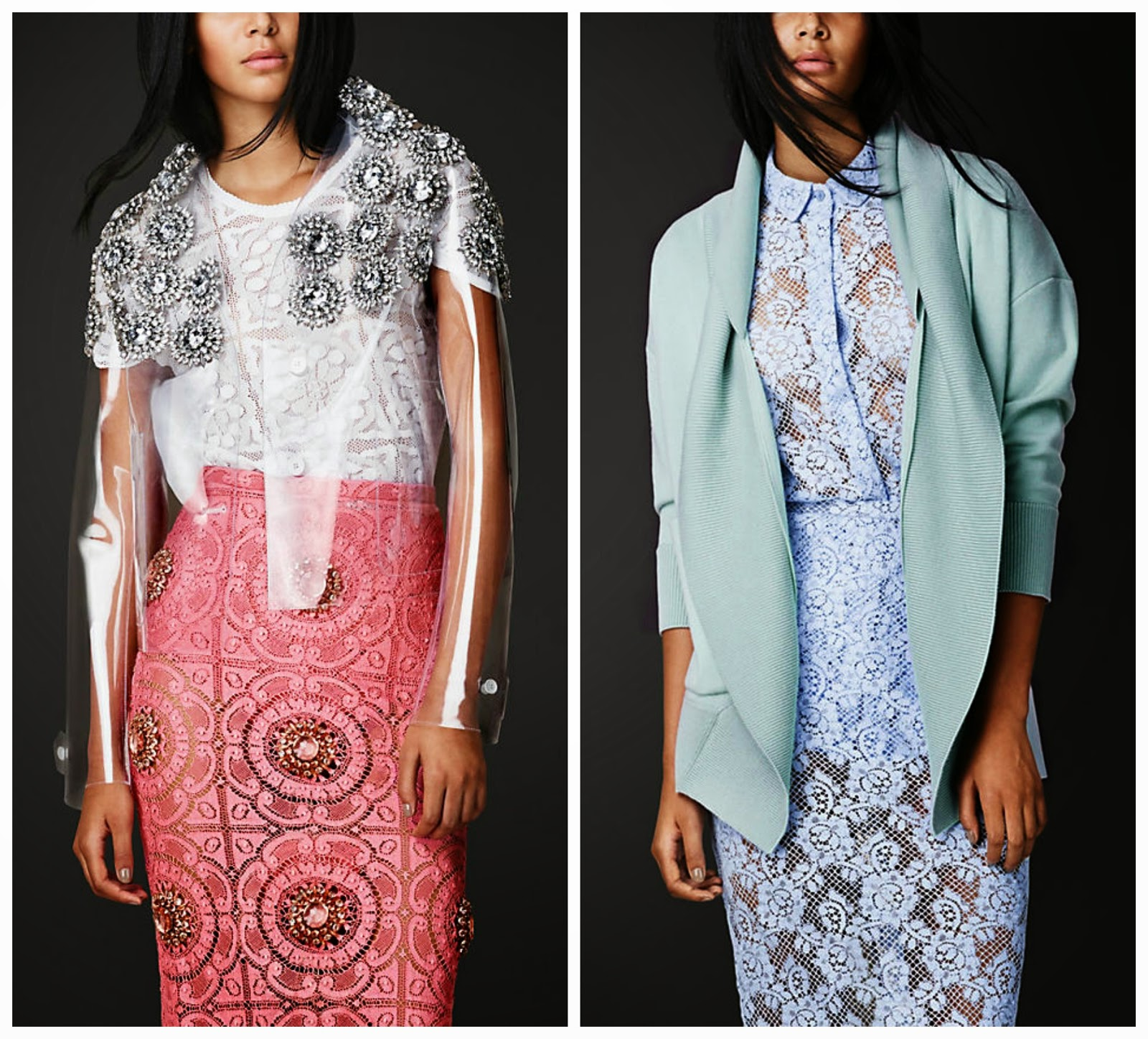 b0ae27618472 Become Fashion's Princess in Burberry Prorsum Spring/Summer 2014 -  Embellished and Pastel Jackets