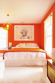 Narrow bedroom Color tricks are nice and pretty