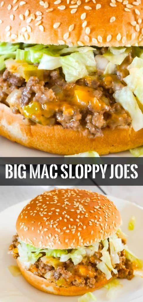 Big Mac Sloppy Joes #recipes #dinnerideas #foodideas #foodideasfordinnereasy #food #foodporn #healthy #yummy #instafood #foodie #delicious #dinner #breakfast #dessert #lunch #vegan #cake #eatclean #homemade #diet #healthyfood #cleaneating #foodstagram