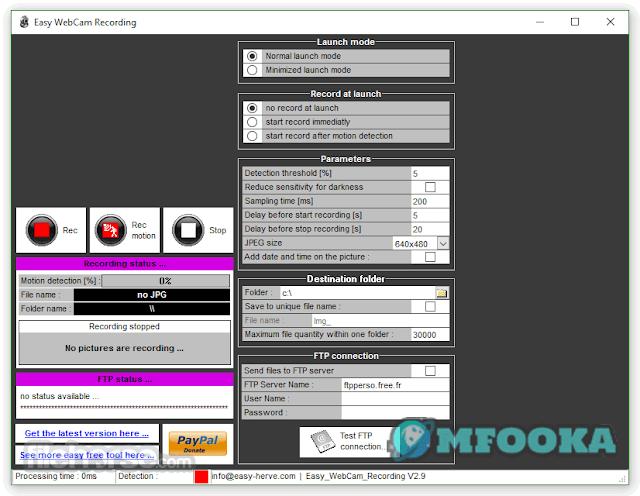برنامج تشغيل الكاميرا والميكروفون Easy WebCam