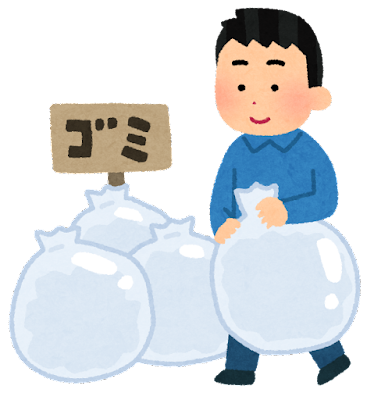 ゴミ出しのイラスト(男性)