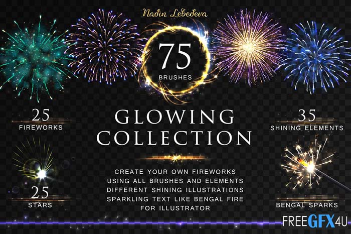 Vector Glowing Collection / Brush