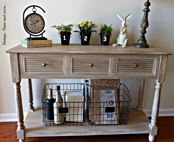 Vintage Entry Table Display ~ Spring in the entryway vintage paint