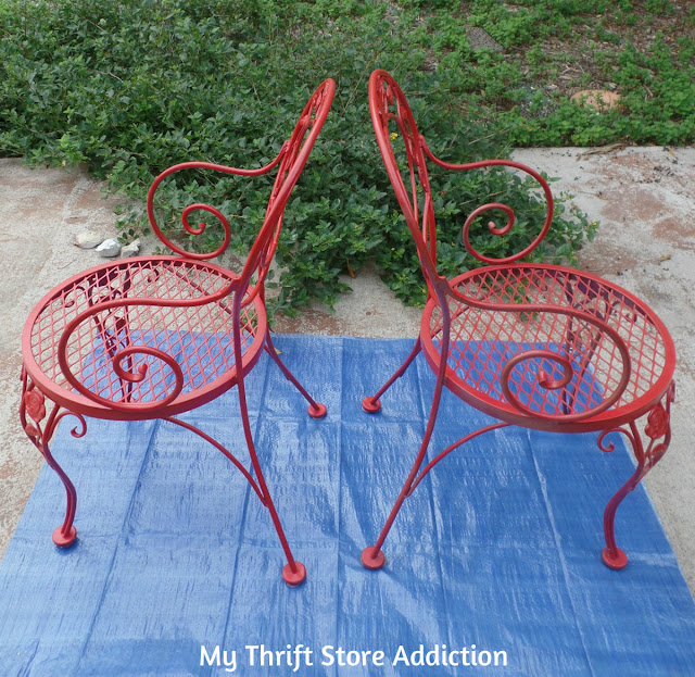 tutorial for chalk painted dining chairs