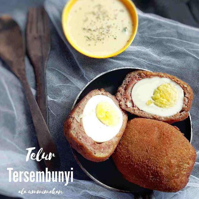 telur tersembuny, scotch eggs versi indonesia