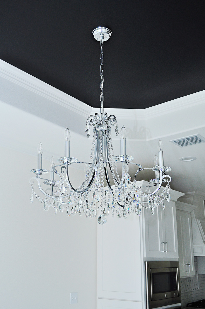 Gorgeous chrome and crystal 8-light chandelier by Crystorama | via monicawantsit.com