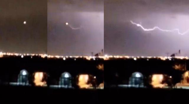 UFO hit by lightning over El Paso, Texas  UFO%2BLightning