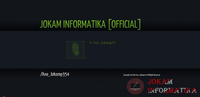 File Deface Jokam Informatika Style System Hacker Hijau Dan Fingerprint - JOKAM INFORMATIKA