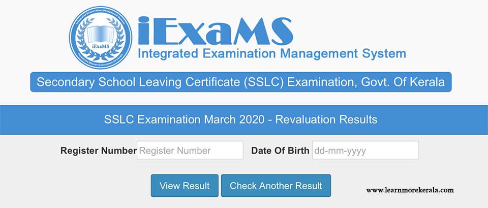 kerala sslc result 2020 revaluation