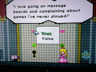 I love going on message boards and complaining about games I've never played! Super Paper Mario