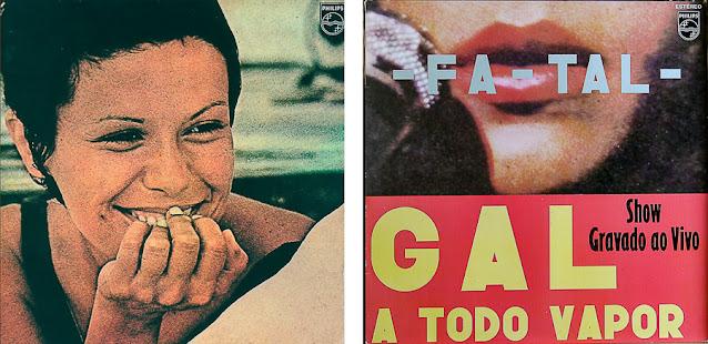 Discos de Gal Costa e Elis Regina