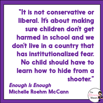 "Enough Is Enough: How Students Can Join the Fight for Gun Safety by Michelle Roehm McCann is a young activist's handbook to joining the fight against gun violence. I loved the mix of background information and history on the issue, infographics and hard hitting statistics, interviews with activists, and ""never forget"" profiles of recent mass shootings. Read on for more of my review and ideas for classroom use."