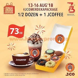 Promo JCO Terbaru 1/2 Dozen + 1 Jcoffee Hanya 73 Ribu Periode 13 - 16 Agustus 2018