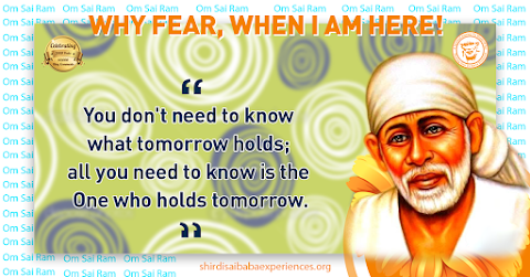 Tomorrow - Sai Baba Picture With Quote