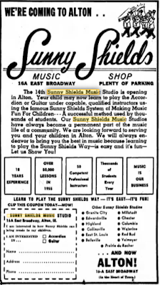 Win a  FREE  Music Scholarship  nun SUNNY SHIELDS MUSIC, INC. • Guitar • Drums • Piano • Accordion • Organ  Take Lessons in a Shields Studio Near Your Home  BOYS AND GIRLS ENTER NOW!  Straub  ed Names Contest  A Total of  35 Scholarships  will be awarded S FIRST PRIZES Eight weeks lessons. Use of instrument, lesson ma-terial. 10 SECOND PRIZES Six weeks lessons. Use of In-strument, lesson material. 20 THIRD PRIZES Five weeks lessons. Use of Instrument, lesson material.  FILL OUT OUT ENTRY BLANK AND UNSCRAMBLE NAMES AT RIGHT Listed in the panel at right are the scram-bled names of ten well-known musicians and entertainers. Correctly unscramble the names. For example Eadn Tinmar un-scrambled is Dean Martin. Write unscram-bled name in space provided at right. Fill out entry blank and mail to: Sunny Shields Music, Inc., 402 Missouri Ave., East St. Louis, Ill.  CONTEST OPEN AGES 6 to 18 WITH NO PREVIOUS MUSIC TRAINING  Letters must be postmarked before mid-night, March 8, 1968. Awards will be made on the basis of correctness of solution of the unscrambled names. Frills and fancies will not be considered in judging winners. Names of winners will be announced through the mail. Decision of judges will be final. No en-tries returned.  Take Lessons Near Your Home  Sunny Shields Music Studios  • Belleville • Cahokia • Collinsville • Columbia • East St. Louis • Prairie du Rocher • Waterloo  located at • EDWARDS-VILLE • Granite City • Highland • Mlllstadt • New Athens • Red Bud  Here's All You Have To Do  Unscramble These Names SCRAMBLED NAME CORRECT NAME  Boybb Ardin Honj Lonnen Nycan tranias Veda Larkc  Aulp Rereve Dnay Liliwmas Brndae Ele  La Tirh  Berh Terpal  Jonnyh Thisma  ENTRY BUNK  Sunny Shields Music, Inc. Scrambled Name Contest 402 Missouri Ave., East St. Louis, III. Name   Address  City Age  I would like to play:  vol•• I■ W./  0 Spanish Guitar El Organ ❑ Drums  Hawaiian Guitar 0 Piano ❑ Accordion  Parents signature__----   Sunny Shields Musk, Inc.  Gen. Offices: 402 Missouri Ave. East St. Louis, III.
