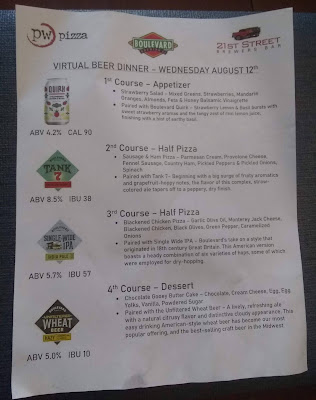 Boulevard Brewing Menu