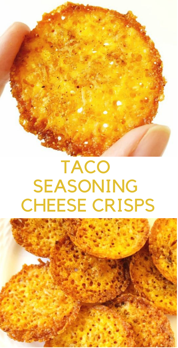 TACO SEASONING CHEESE CRISPS #diet #keto
