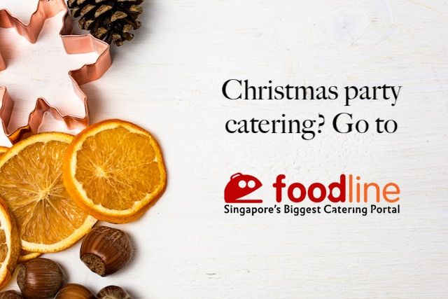 Christmas catering by foodline.sg