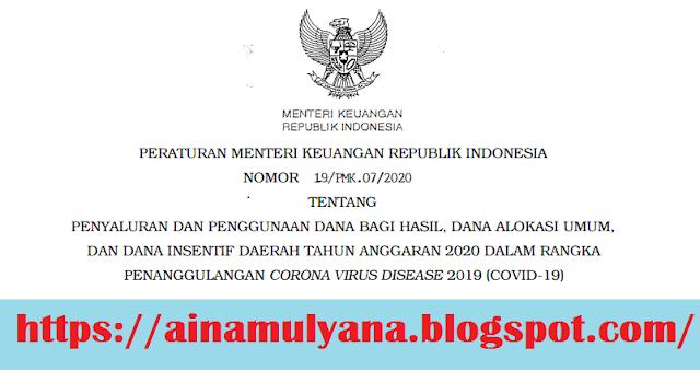 PMK Nomor 19 Tahun 2020 (PMK Nomor 19/PMK.07/2020)