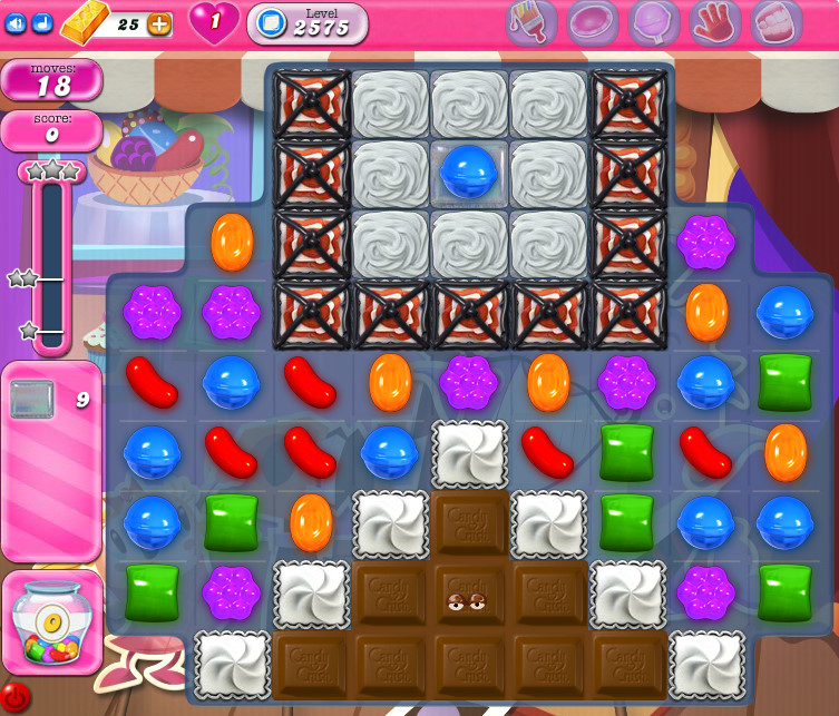 Candy Crush Saga level 2575
