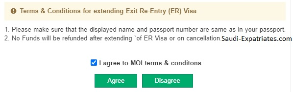 Procedure to Extend Dependent's Exit Re-Entry visa, Who are outside Saudi Arabia - Saudi-Expatriates.com