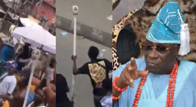 """""""Return The Staff Or Face A Spell Cast On You"""" - Lagos State Ruling House Gives A 24-hour Ultimatum To Anybody With The Staff of Office of Oba of Lagos (Watch)"""