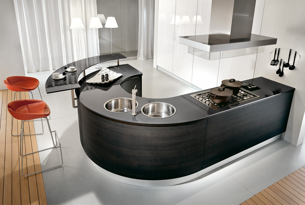 Curved Kitchen Counters