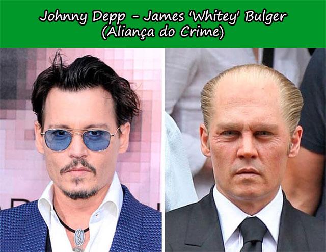 Johnny Depp - James 'Whitey' Bulger (Aliança do Crime)