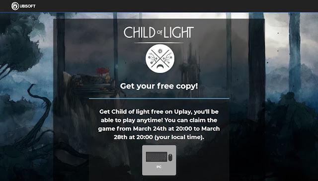 Child Of Light via Ubisoft Giveaway