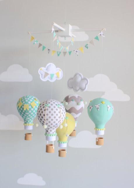 Green Pear Diaries, reciclaje, bombillas recicladas, móviles, habitaciones infantiles