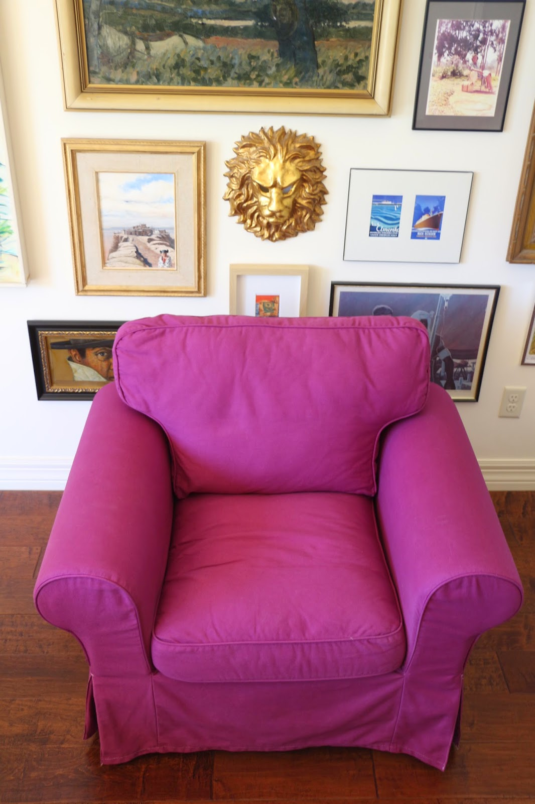 pink slipcover chair ergon 3 by herman miller dusty coyote dyeing an ektorp fuschia cover a