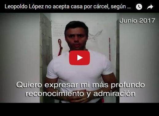 Leopoldo López rechaza oferta de casa por cárcel