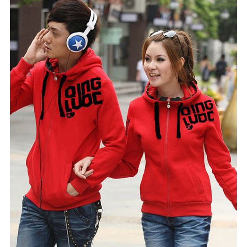 Jual Jacket Couple Jacket Red Qing - 21961